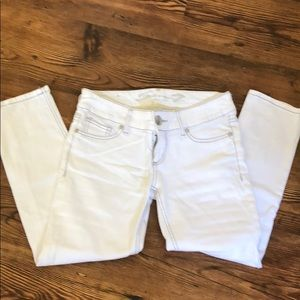 White cropped Seven jeans